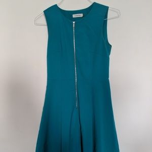 Blue Calvin Klein A-Line Dress